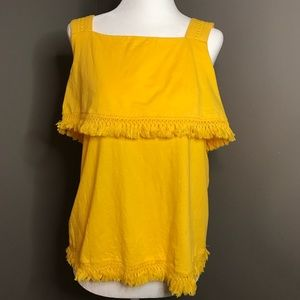 J Crew yellow tank top